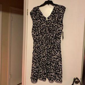 Size 16 black/gray/ white print dress by IMNYC